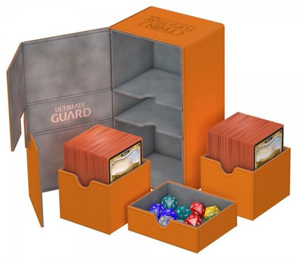 Ultimate Guard - Twin Flip 'n' Tray Deck Case 200+ / XenoSkin Orange