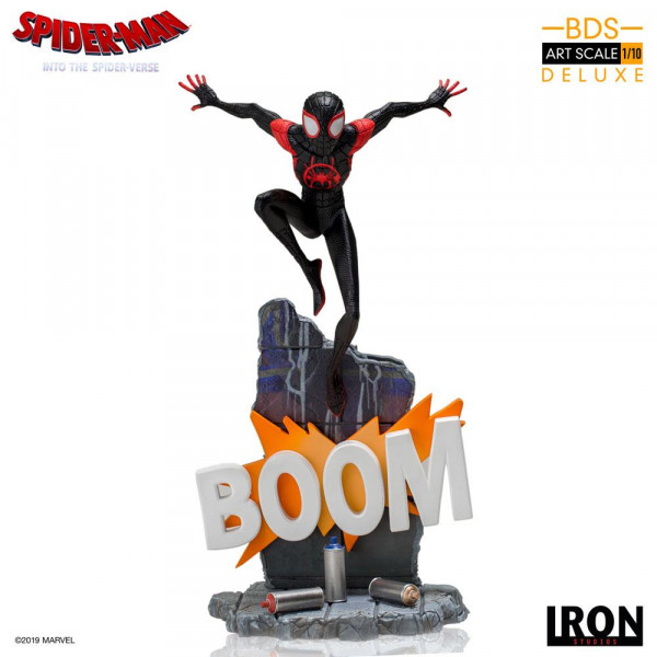 Spider-Man: A New Universe - Miles Morales / Spider-Man Statue / BDS Art Deluxe: Iron Studios