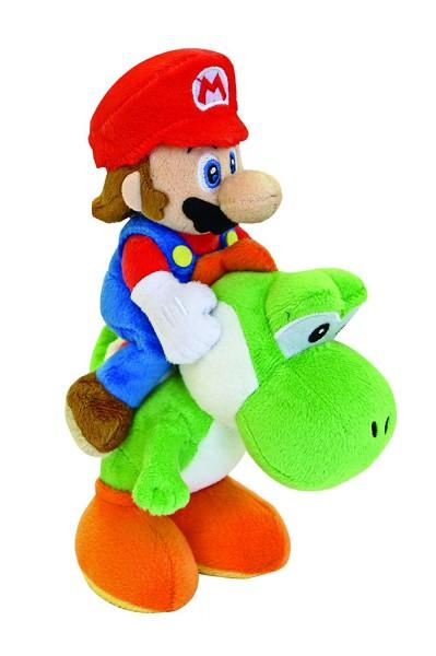 Nintendo Mario auf Yoshi Plüschfigur 22cm