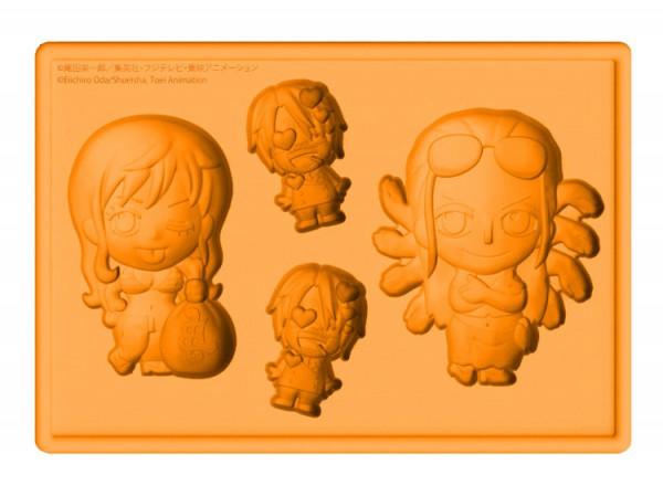 One Piece - Silikon-Form Nami, Robin & Sanji: Kotobukiya