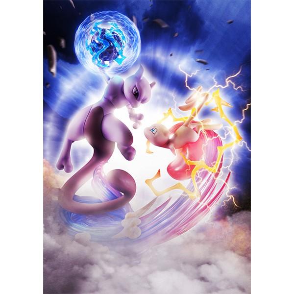 Pokemon Mew Vs Mewtwo Statue Allblue World Anime Figuren