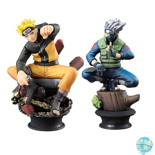 Naruto Shippuden - Naruto & Kakashi Schachfiguren - Chess Piece Collection: MegaHouse