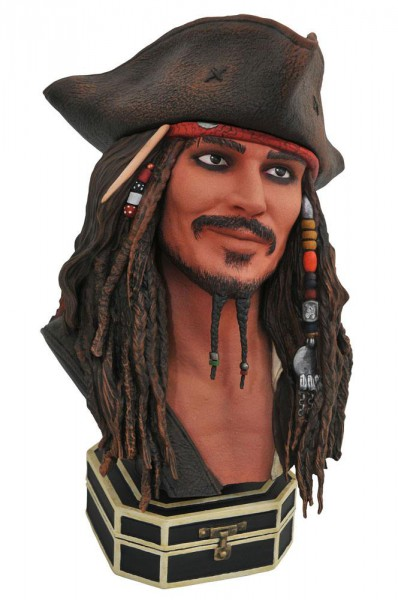 Fluch der Karibik - Jack Sparrow Büste / Legends in 3D: Diamond Select