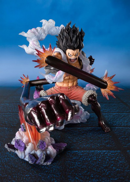 One Piece - Monkey D. Ruffy Statue / FiguartsZERO - Gear 4 Snakeman King Cobra: Tamashii Nations