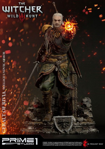 Witcher 3 Wild Hunt - Geralt of Riva Statue - Skellige Undvik Armor : Prime 1 Studio