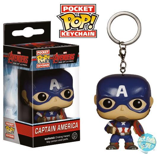 Avengers Age of Ultron Funko POP! Vinyl Schlüsselanhänger Captain America 4 cm
