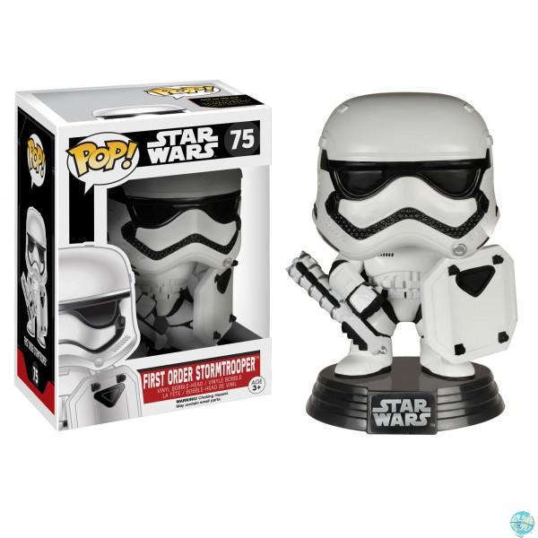 Star Wars Episode VII - First Order Stormtrooper with Shield Figur - POP: Funko