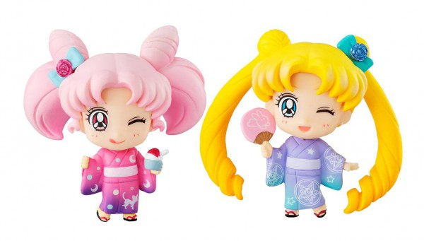 Sailor Moon - Sailor Moon & Chibiusa Minifigure-Set / Petit Chara Reihe: MegaHouse