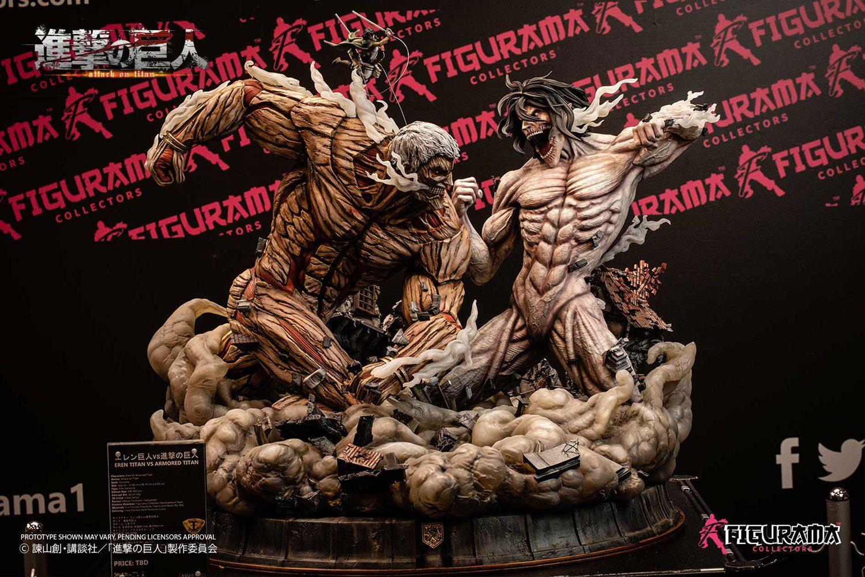 eren titan statue Attack on Titan - Eren vs Armored Titan Statue / Elite Exclusive: Figurama