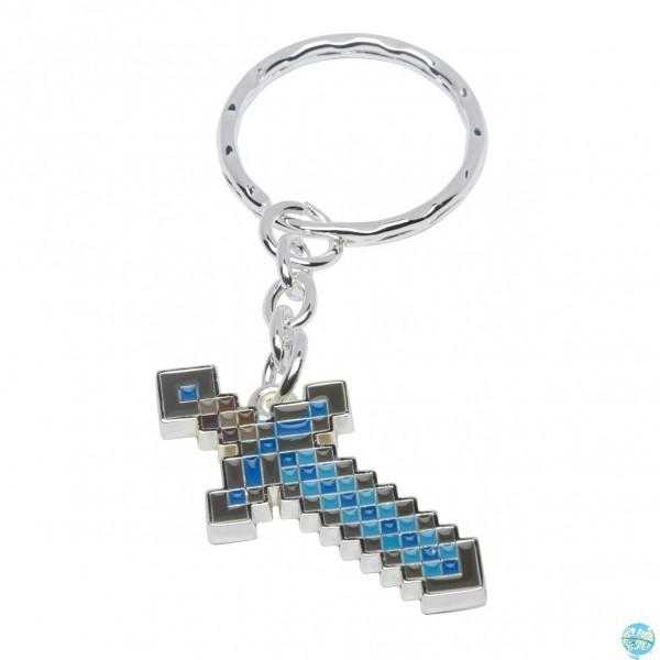 Minecraft JINX Metall Schlüsselanhänger Diamond Sword