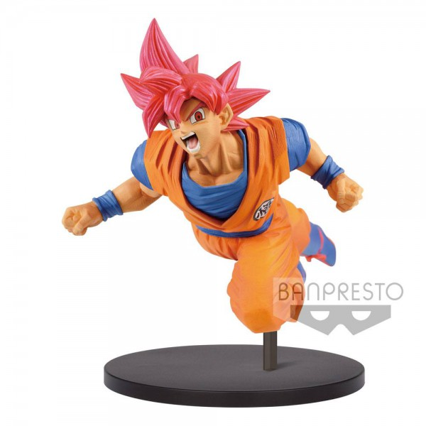 Dragon Ball - SSJ God Son Goku Figur / FES: Banpresto