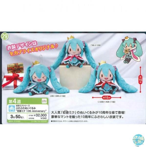 Hatsune Miku - Hatsune Miku Plüschi 3er-Set - 10th Anniversary Version: SEGA