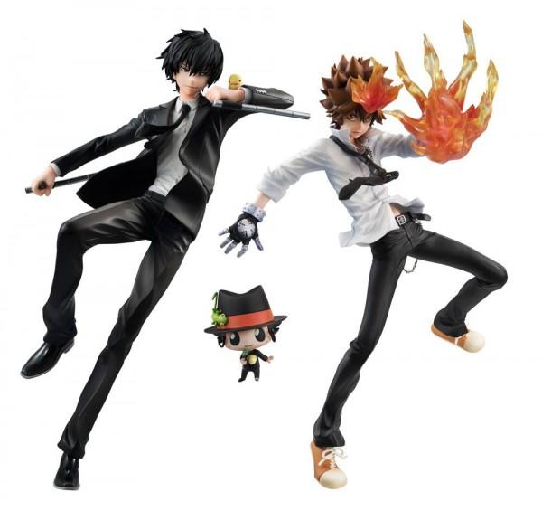 Reborn! - Tsunayoshi Sawada & Hibari Kyoya Statuen / G.E.M Serie: MegaHouse