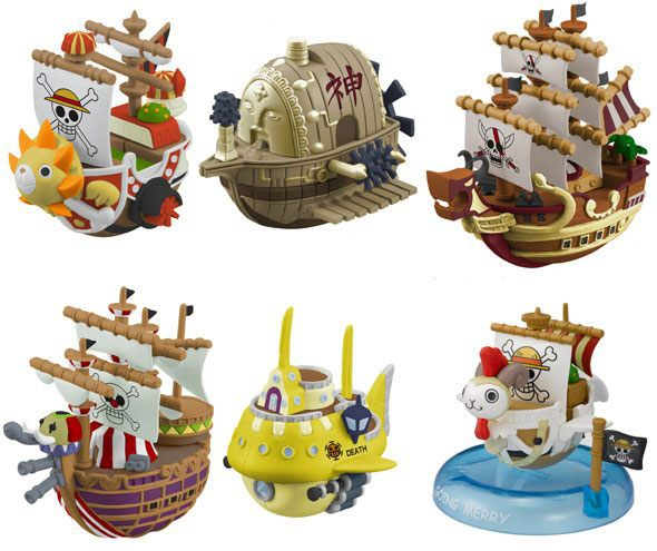 One Piece - Schiff-Set / Wobbling Pirate Ship Collection: MegaHouse