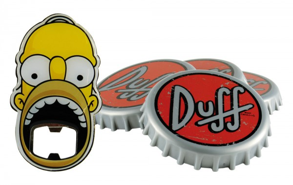 Simpsons - Homer Untersetzer Set mit Flaschenöffner: United Labels