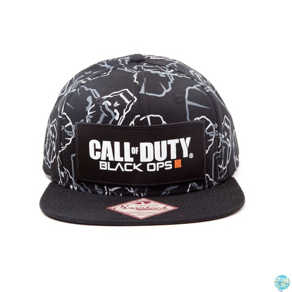 Call of Duty Black Ops III Hip Hop Cap Snap Back Text Logo & Skulls