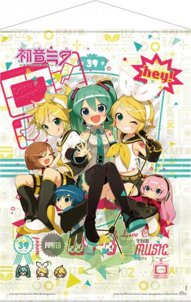 Vocaloid - Hey! Piapro Characters Wallscroll: POPbuddies