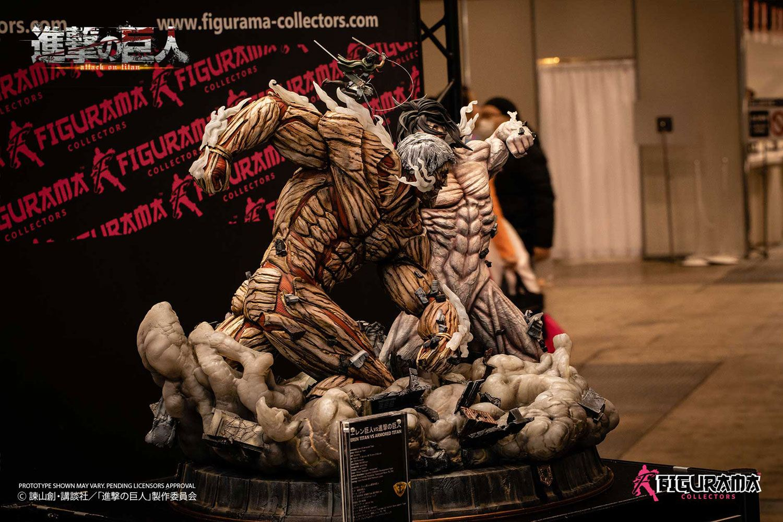 eren titan form statue Attack on Titan - Eren vs Armored Titan Statue / Elite Exclusive: Figurama
