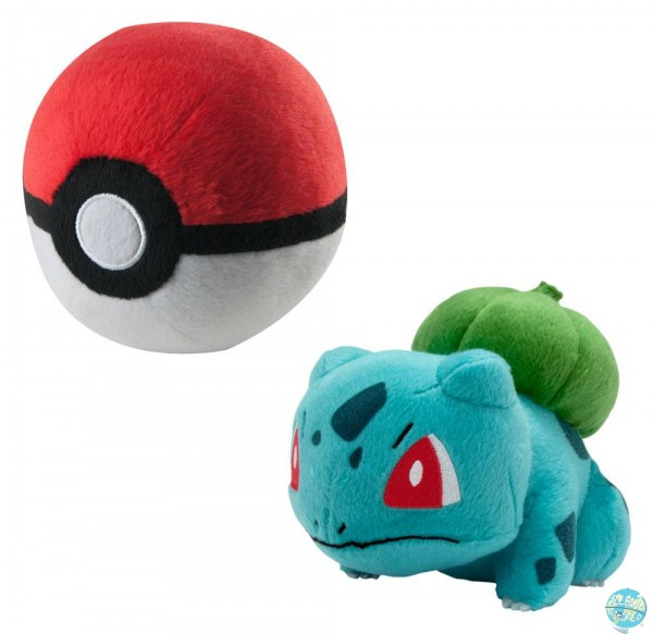 Pokemon - Bisasam mit Pokeball Plüschfigur: Tomy