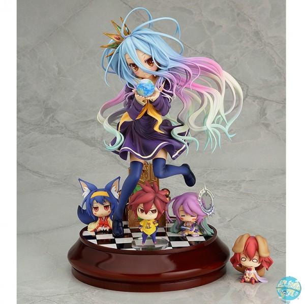 No Game No Life - Shiro mit Chibi Sora, Izuna, Jibril und Steph Statue: Phat!