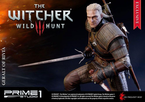 Witcher 3 Wild Hunt - Geralt of Riva Statue - limited Edition / Exclusive Version: Prime 1 Studio