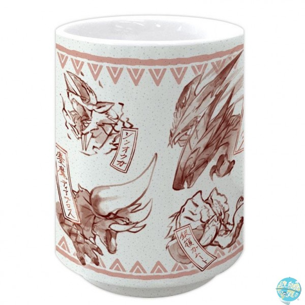 Monster Hunter Double Cross - Japanischer Teebecher - Yunomi Japanese Pattern Red: Capcom