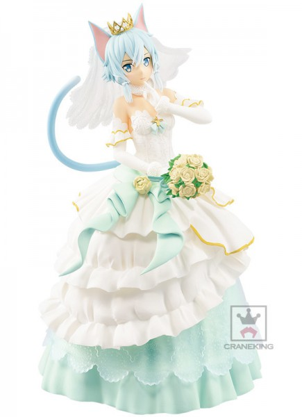 Sword Art Online - Sinon Figur / EXQ - Wedding Version: Banpresto
