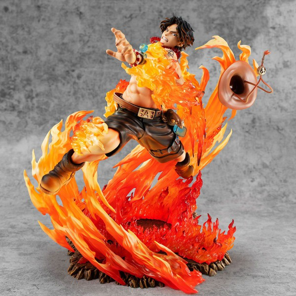 One Piece -Portgas D. Ace Statue / Neo-Maximum - 15th Anniversary: MegaHouse