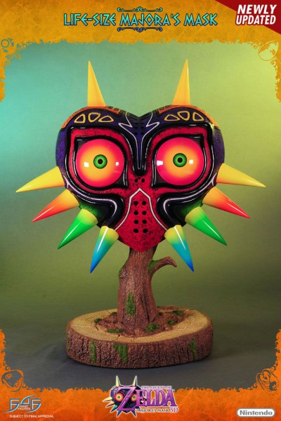 The Legend of Zelda Majora's Mask 3D - Majoras Maske Life-Size Replika: First 4 Figures