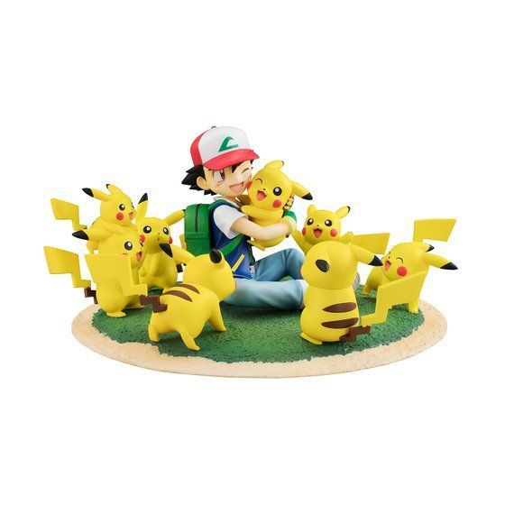 Pokemon - Ash & Pikachu Statue / G.E.M. Series - Lots of Pikachu Version: MegaHouse