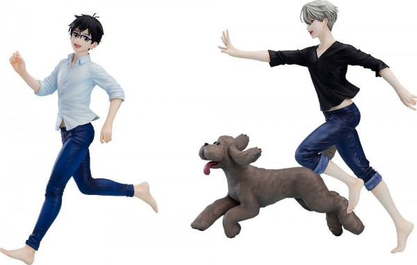 Yuri!!! on Ice - Yuri, Victor & Makkachin Statue: Good Smile Company