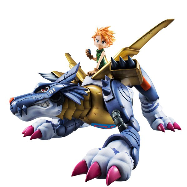 Digimon Adventure - Metal Garurumon & Matt Statue / G.E.M. Serie: MegaHouse