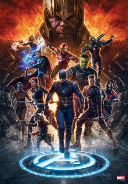 Avengers: Endgame - Holzdruck Motiv #01: Semic