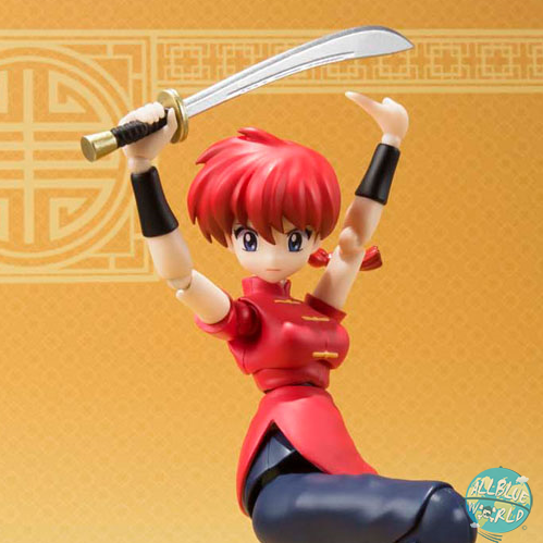 Ranma 1/2 - Ranma Saotome Actionfigur - S.H. Figuarts / Girl Version: Bandai