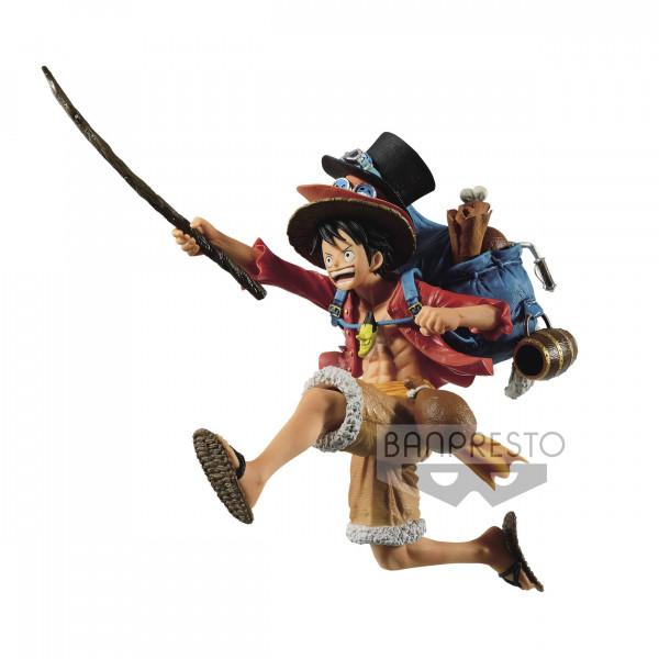 One Piece - Monkey D. Ruffy Figur / Three Brothers: Banpresto