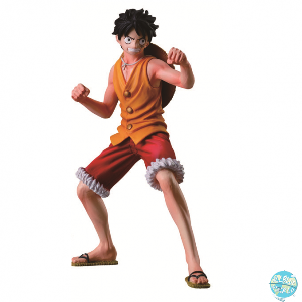 One Piece Ruffy Figur - Styling Marine Ford: Bandai