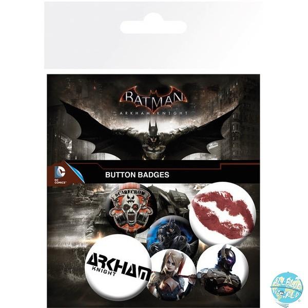 Batman Arkham Knight - Ansteck-Buttons 6er-Pack Mix: GYE