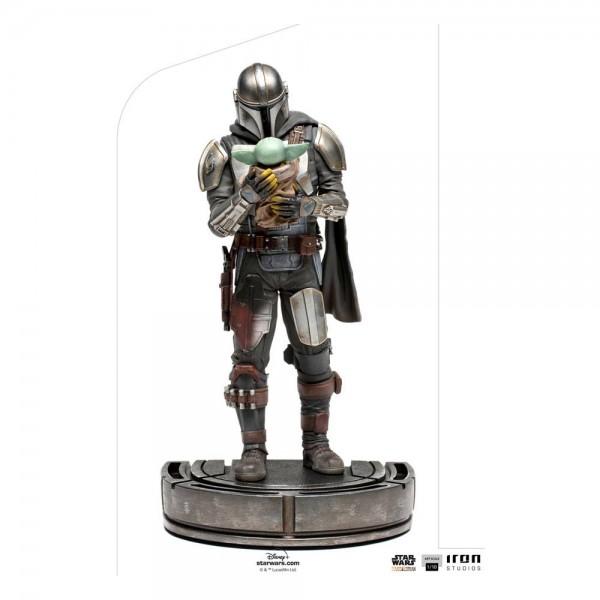 Star Wars The Mandalorian - Mandalorian & Grogu Statue / Art Scale: Iron Studios