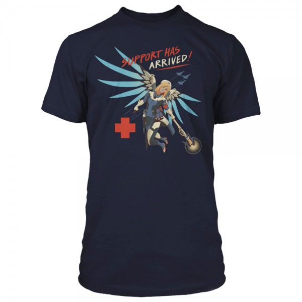 "Overwatch - T-Shirt / Support Has Arrived - Unisex ""S"": Cotton Division"