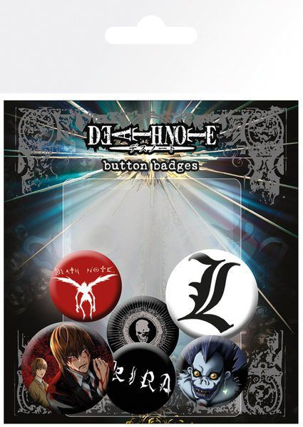 Death Note - Ansteck-Buttons 6er-Pack Mix: GYE