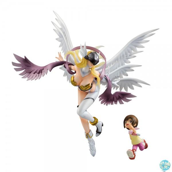 Digimon Adventure MegaHouse G.E.M. Serie PVC Statue Angewomon & Kari 19cm