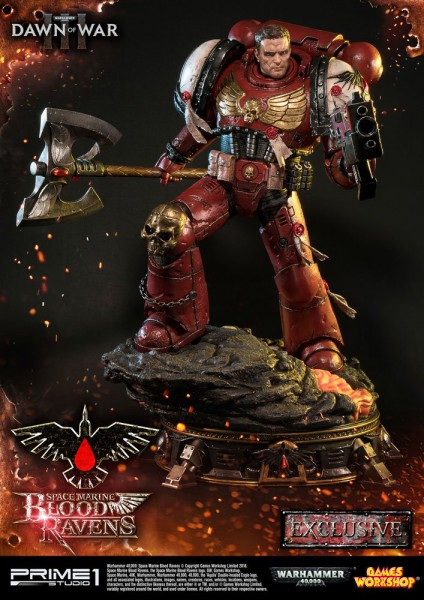 Warhammer 40K Dawn of War III - Space Marine Blood Ravens Statue / Deluxe Version: Prime 1 Studio