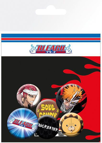 Bleach - Ansteck-Buttons 6er-Pack Mix: GYE