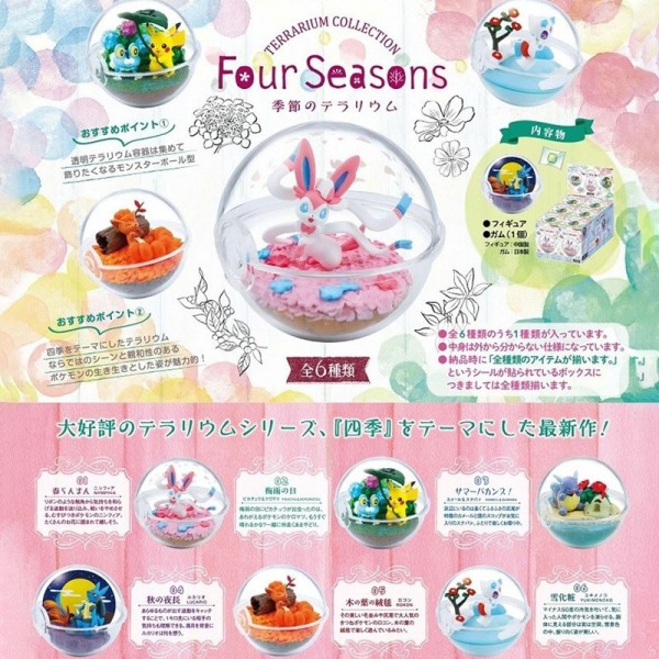 Pokemon - 1x Terrarium Figur / Blindbox - Collection Four Seasons: Re-Ment