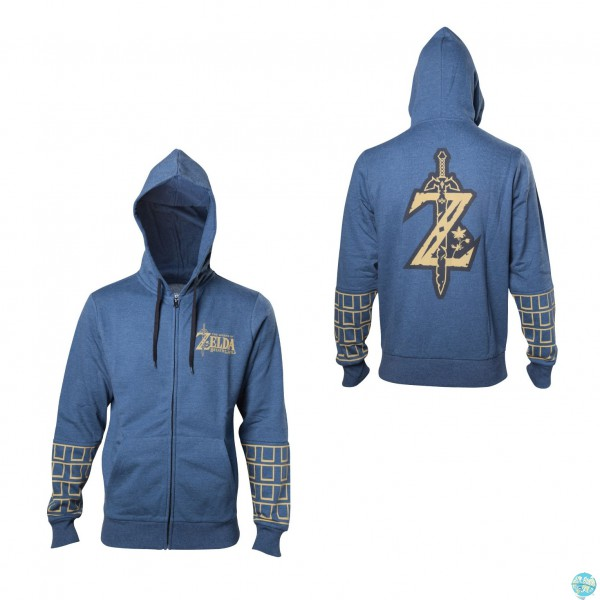 The Legend of Zelda Breath of the Wild - Kapuzenpullover mit Reißverschluß Gr. S-XL: Bioworld