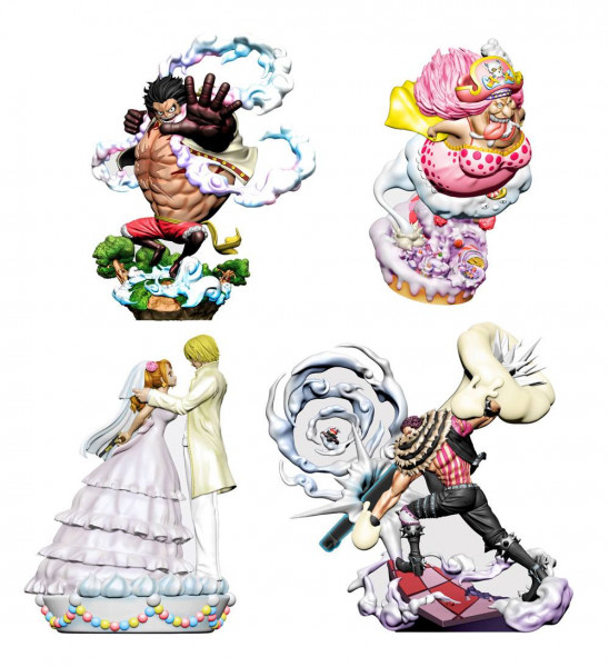 One Piece - Minifiguren 4er-Set / Log Box - Birth Whole Cake Island Version: MegaHouse