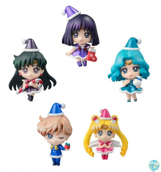 Sailor Moon - Minifiguren 5er-Set - Petit Chara / Christmas Specia: MegaHouse