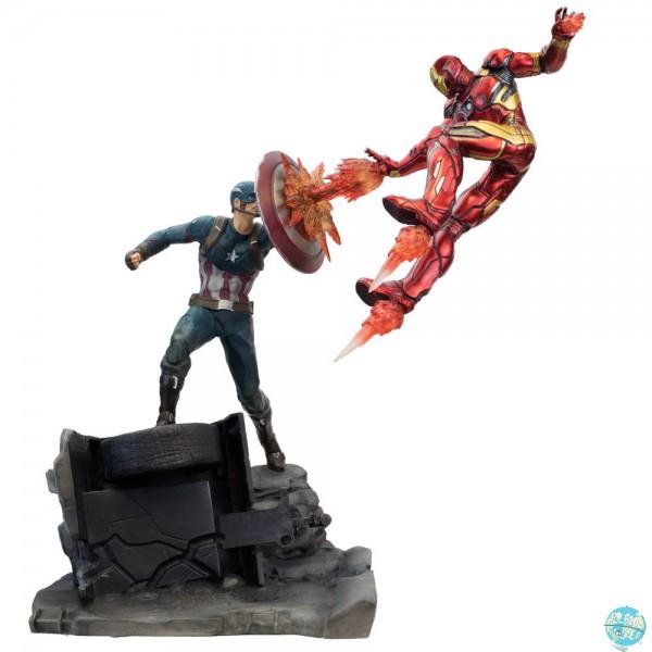 Captain America Civil War - Captain America vs Iron Man Statue / Premium Motion: Factory Entertainme