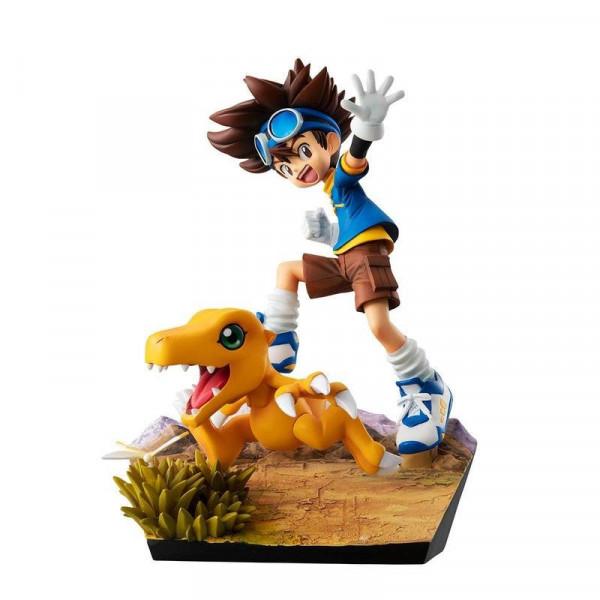 Digimon Adventure - Taichi Yagami & Agumon Statue / G.E.M. Series - 20th Anniversary: MegaHouse