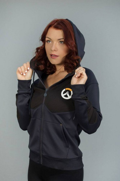 Overwatch - Hoody mit Reißverschluß / Tech Logo - Girlie S: Level Up Wear